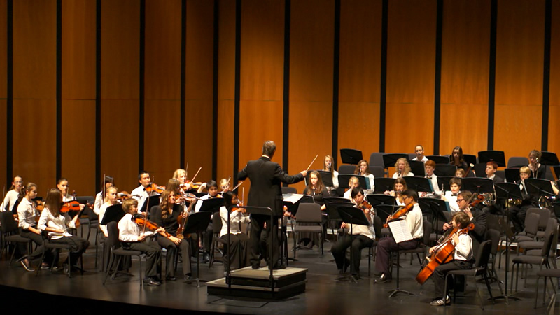 Junior Symphony directed by Malcolm Peterson