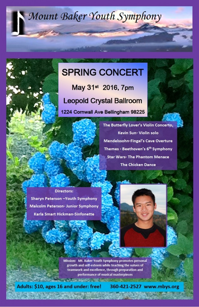 May 31 MBYS Concert poster